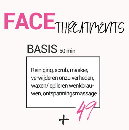 Prijs Basis gezichtsbehandeling